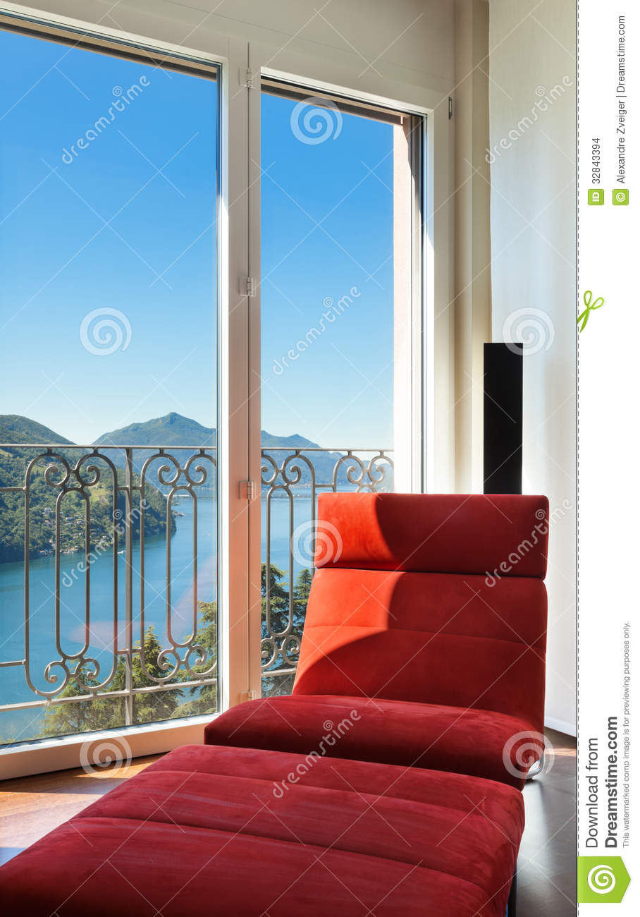 Comfortable red armchair stock photo. Image of detail ...