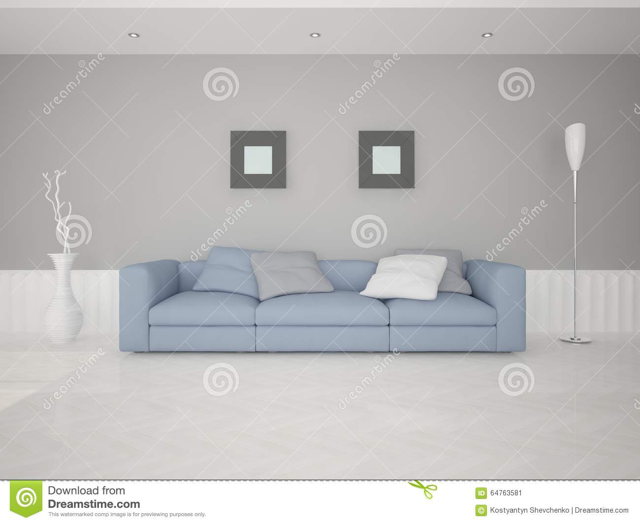 A comfortable sofa in the living room stock illustration image 64763581 - Sofa lit confortable ...