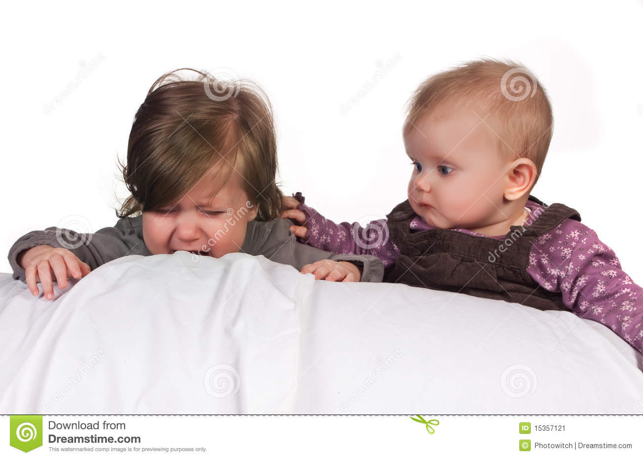 Comforting Another Baby Stock Image - Image: 15357121: www.dreamstime.com/stock-image-comforting-another-baby-image15357121