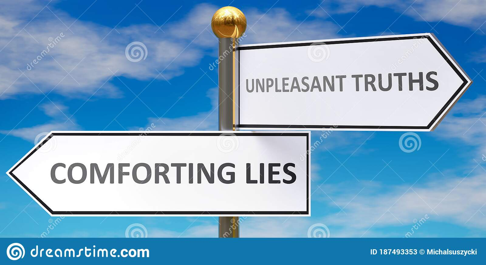 Comforting Lies And Unpleasant Truths As Different Choices ...