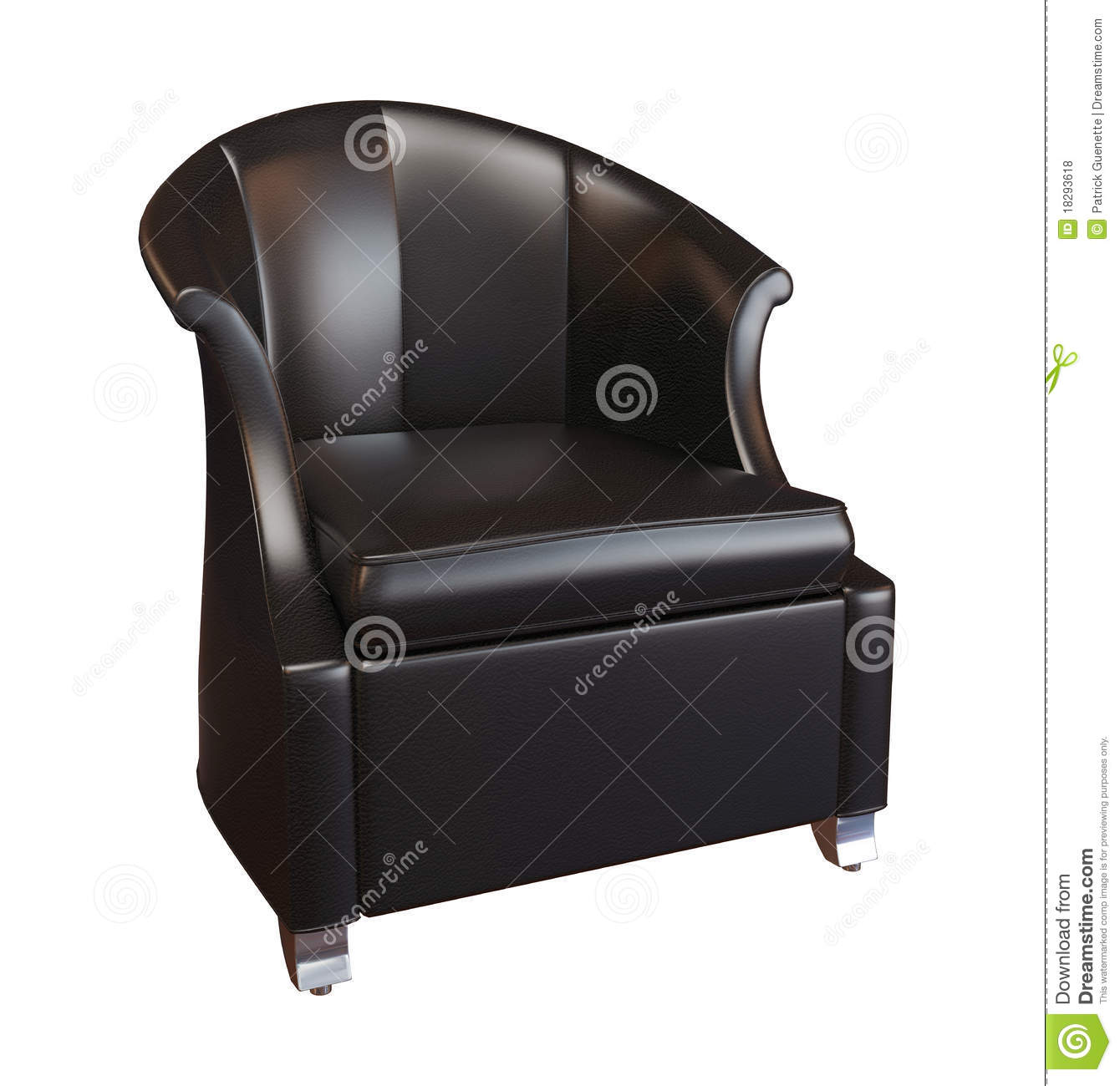 Comfy Black Leather Armchair Royalty Free Stock Photos ...