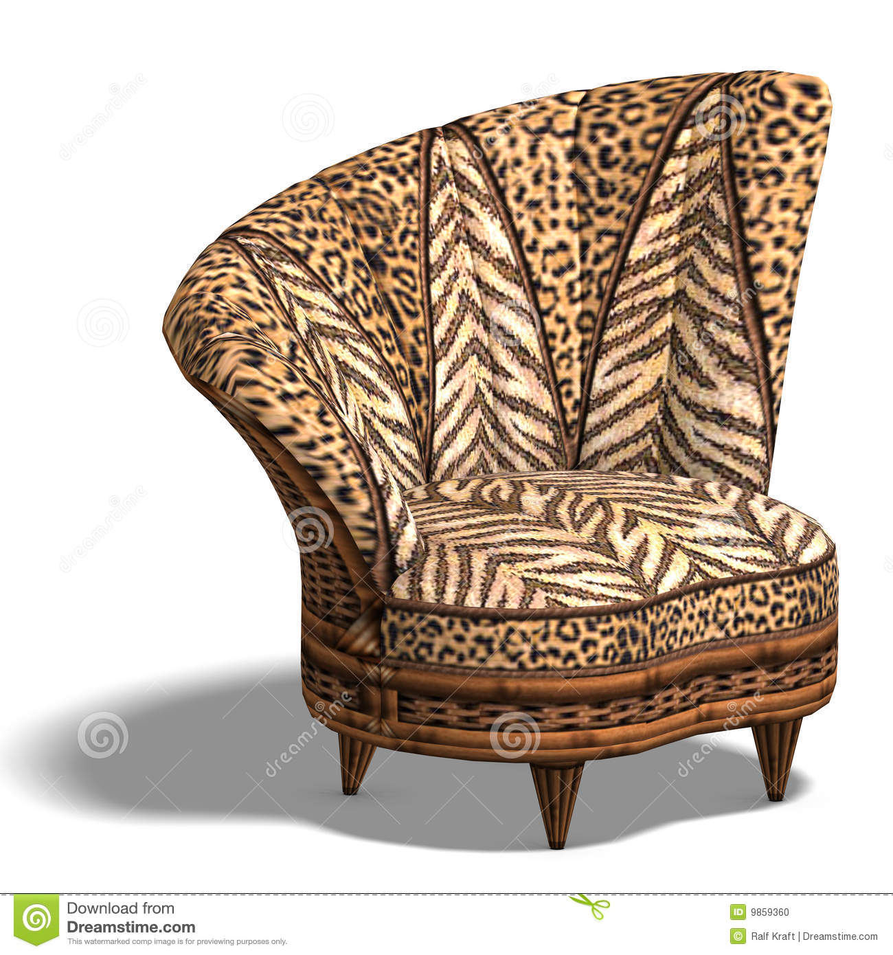 fy Chair With African Design Stock Image