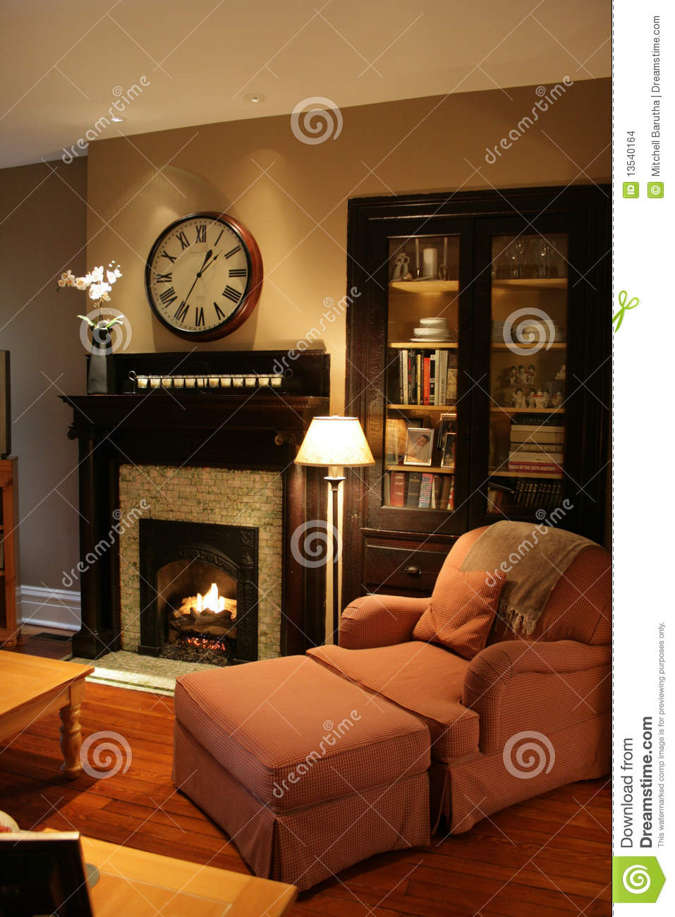 comfy home fireplace stock images image 13540164