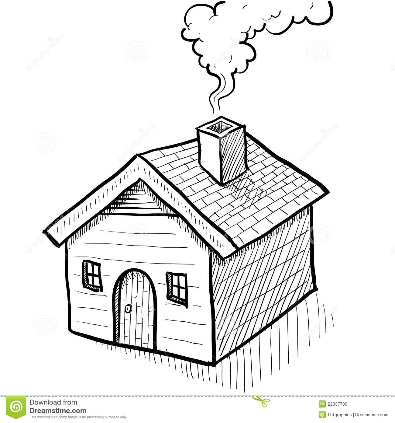 Comfy House Sketch Stock Photo Image 22337700