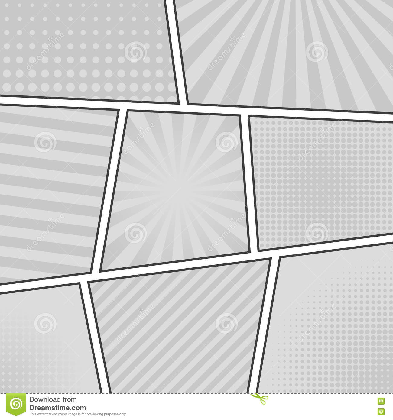 Comic Book Background Stock Vector Illustration Of Blank 74423903