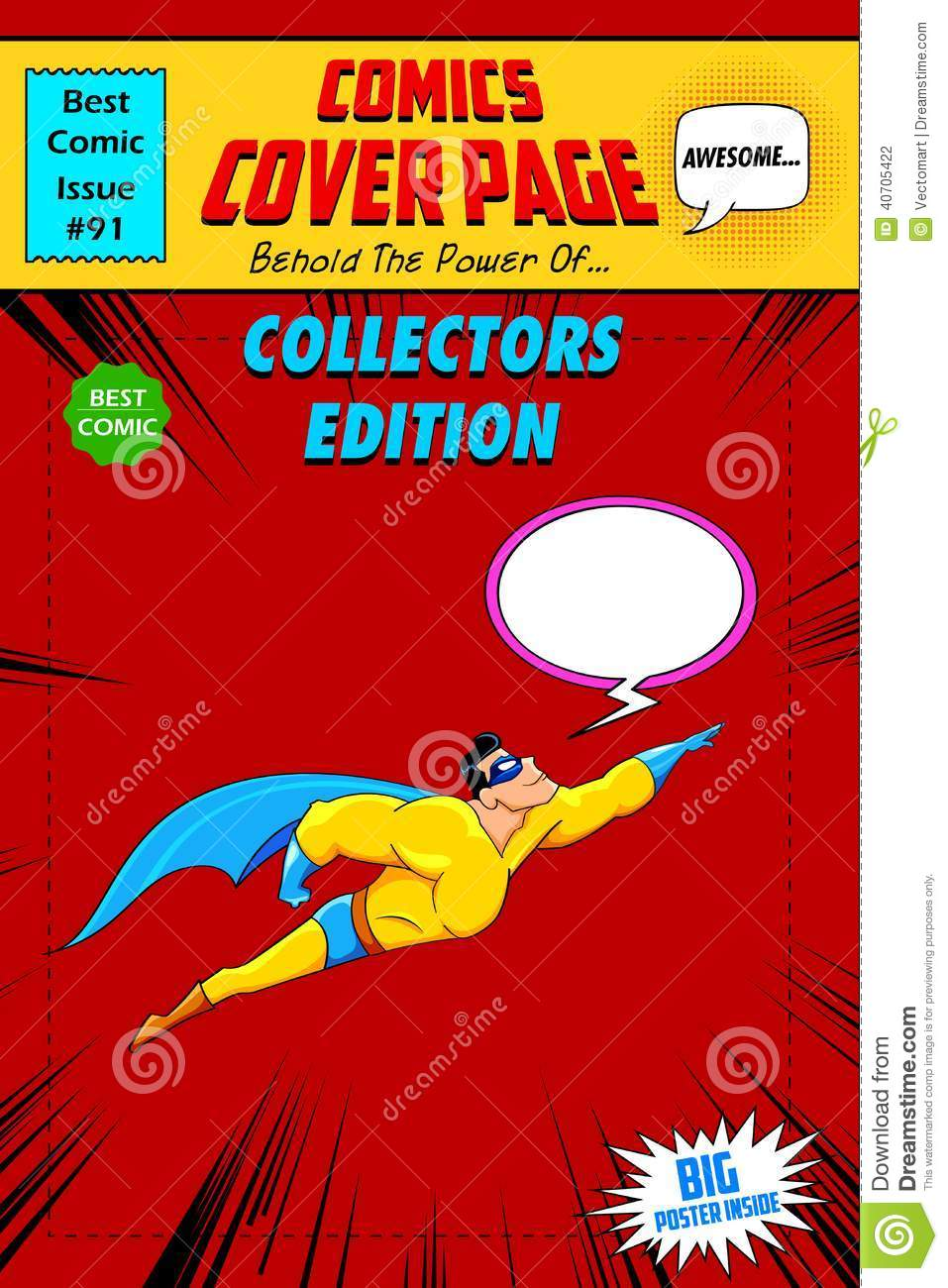 Book Cover Illustration Rates : Comic book cover stock vector illustration of
