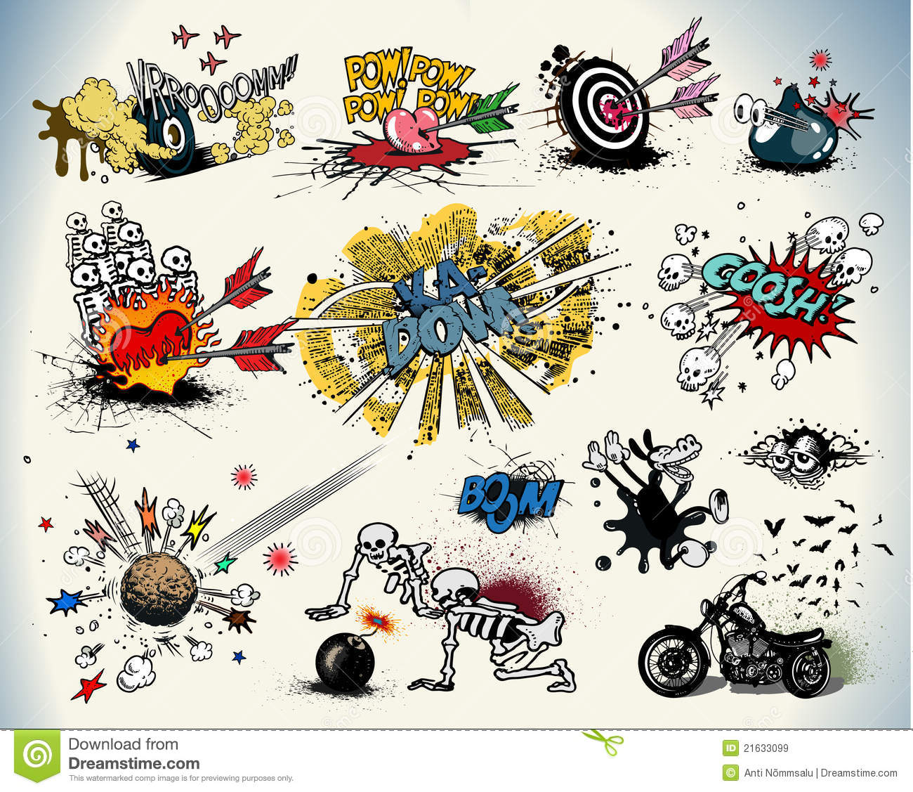 Elements For Design : Comic book design elements stock vector image of