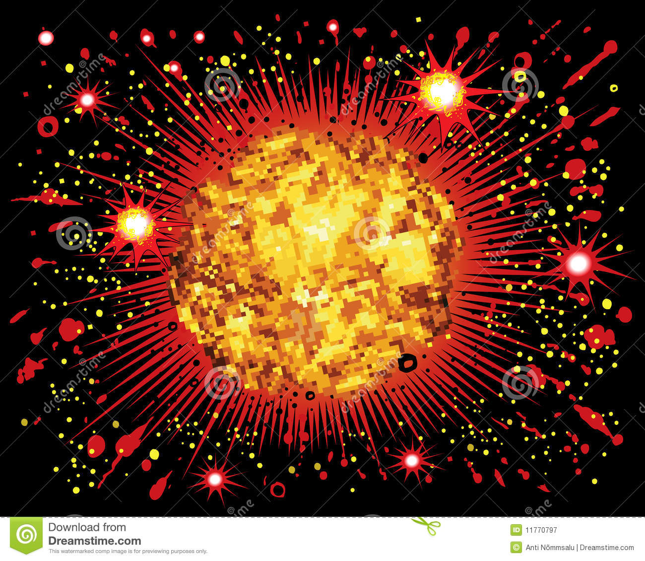 Comic Book Explosion Royalty Free Stock Photography - Image: 11770797