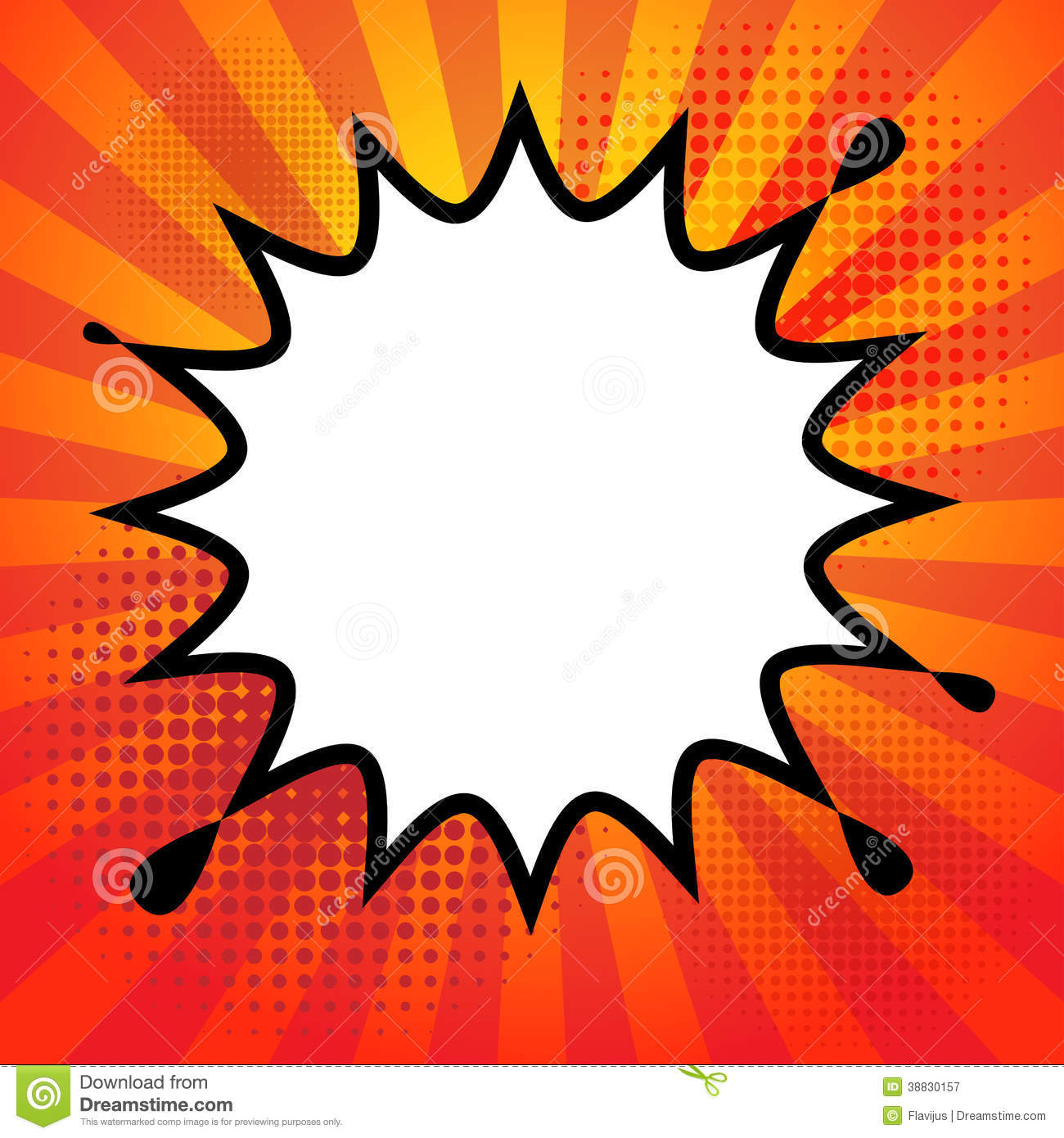 Comic book explosion stock vector. Illustration of abstract - 38830157