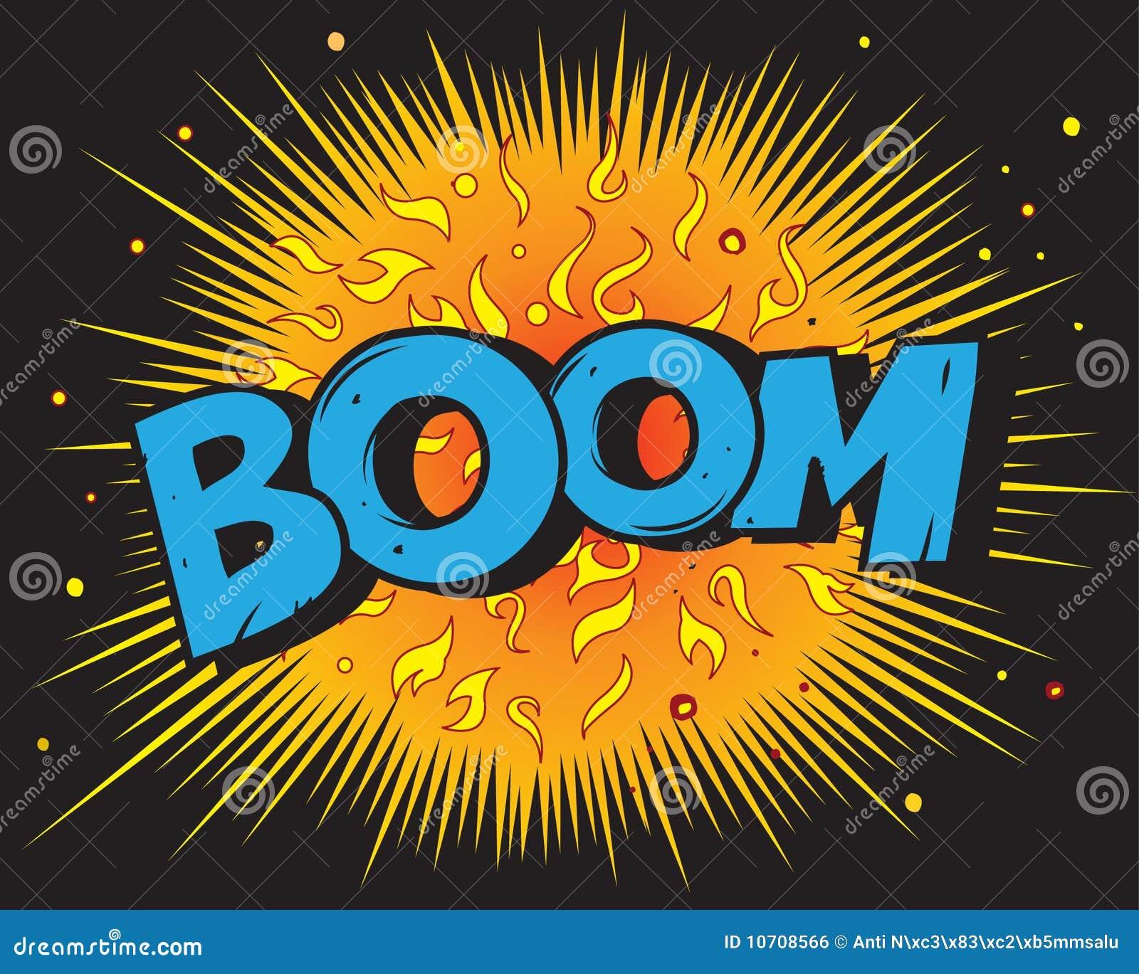 Comic Book Explosion - Boom Stock Vector - Illustration of ...
