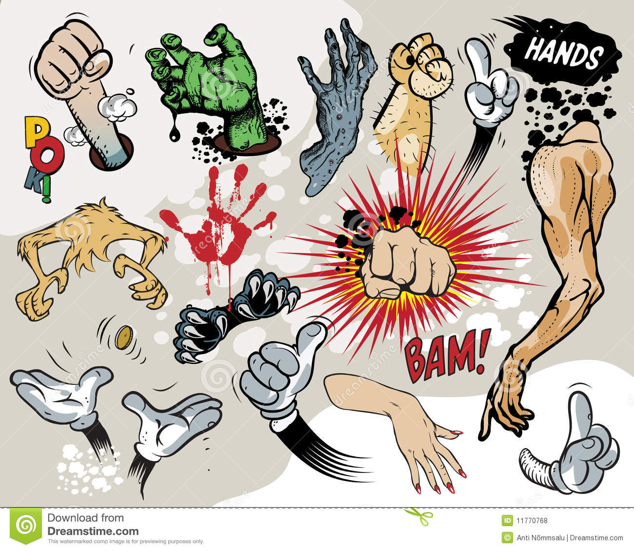 Comic Book Hands Royalty Free Stock Photos Image