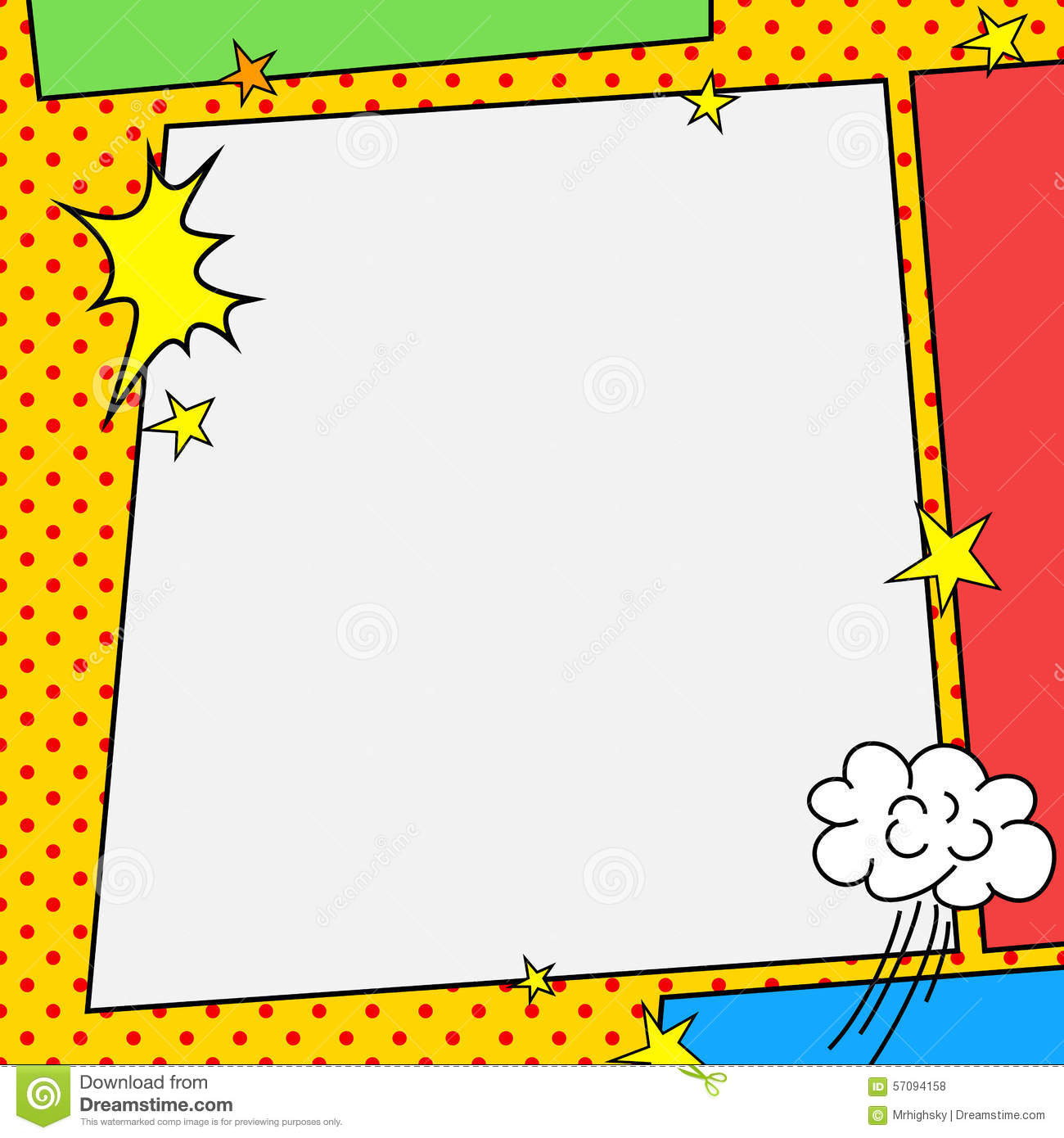 Comic Book Style Frame Stock Vector - Image: 57094158