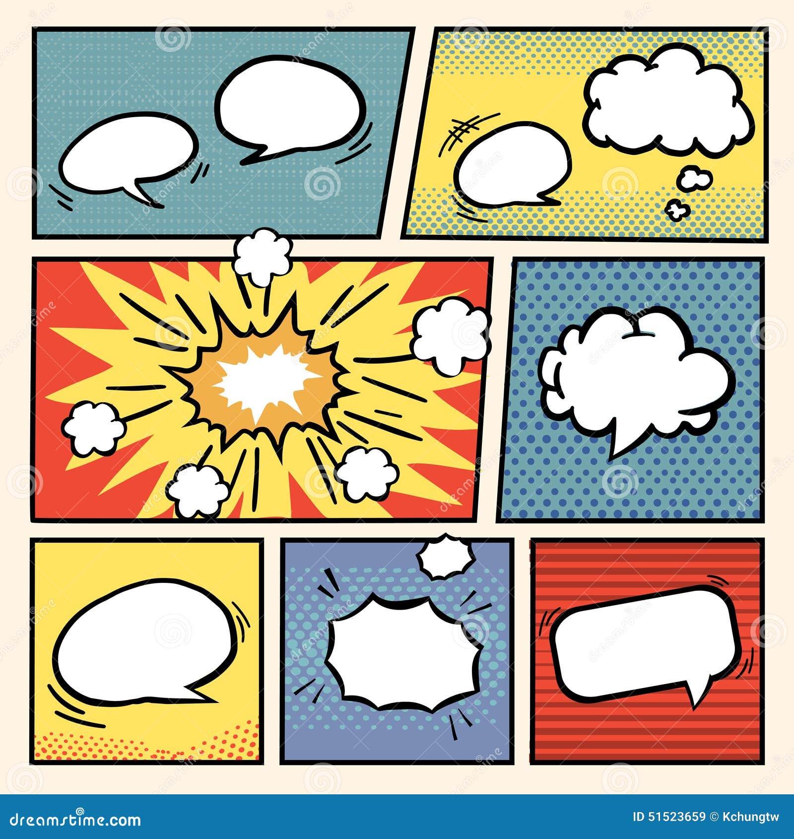 comic book style speech bubbles set stock vector image 51523659. Black Bedroom Furniture Sets. Home Design Ideas