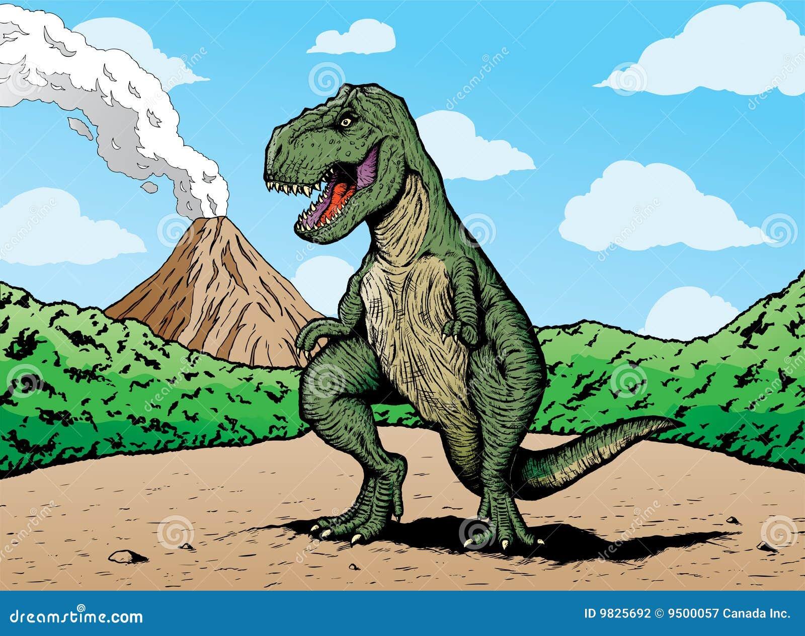 Comic book T-rex