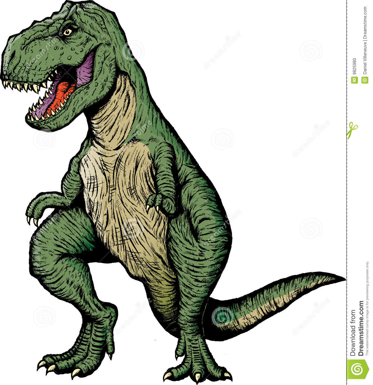 Stock Photo  ic Book T Rex Image9825980 on living room themes