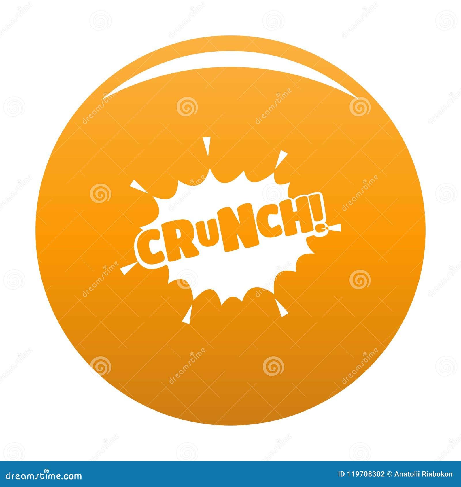 Comic boom crunch icon vector orange