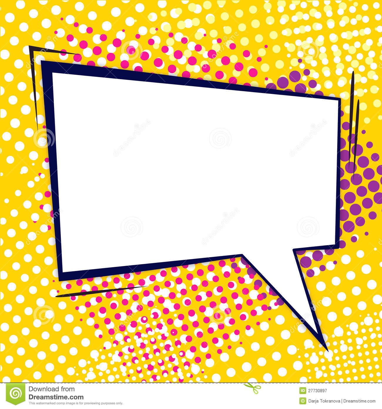 Comic Bubble Stock Vector Illustration Of Communication