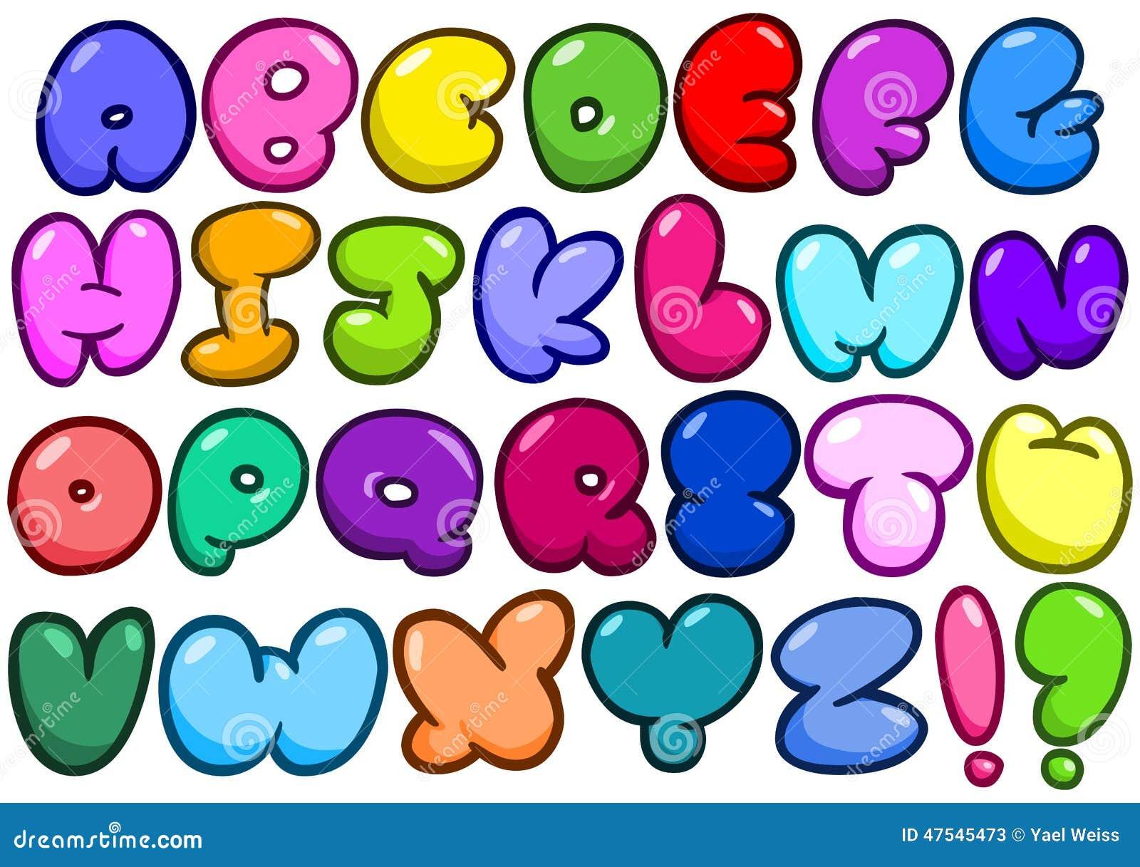 Comic Bubble Alphabet Stock Vector - Image: 47545473