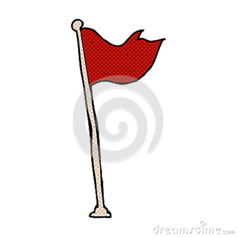 comic cartoon flag on pole stock illustration illustration of rh dreamstime com cartoon flagpole cartoon flags of the world