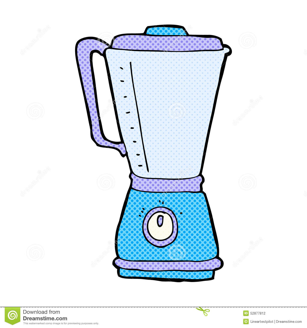 Cartoon Kitchen Mixer ~ Comic cartoon kitchen blender stock illustration image