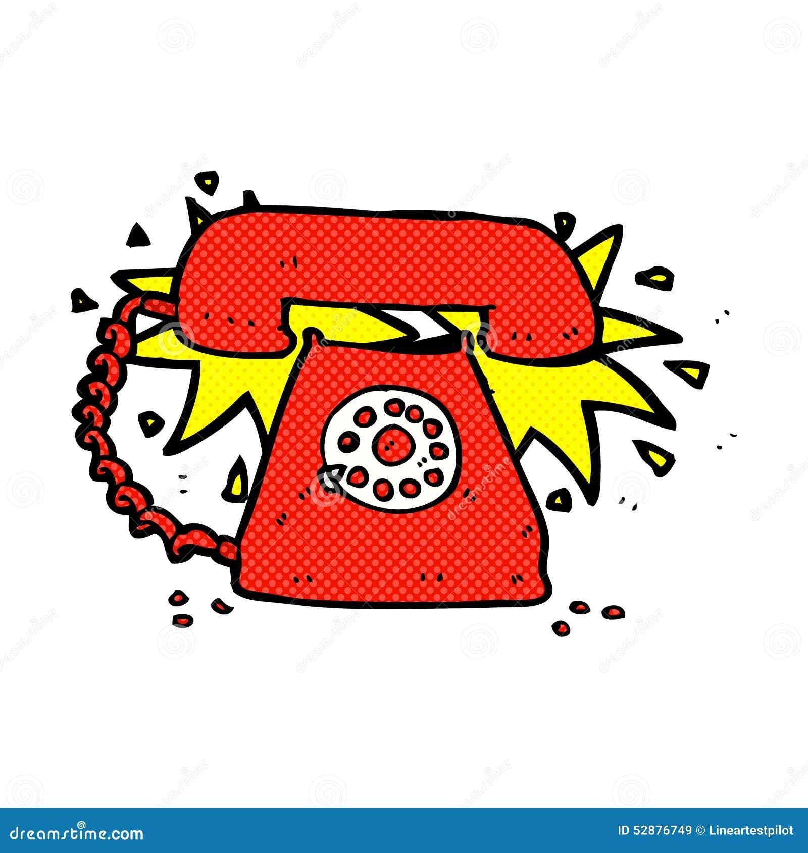 Cartoon Characters Phone Numbers : Comic cartoon ringing telephone stock illustration image