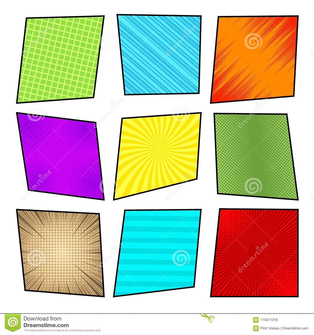 Comic Colorful Frames Collection Stock Vector - Illustration of ...