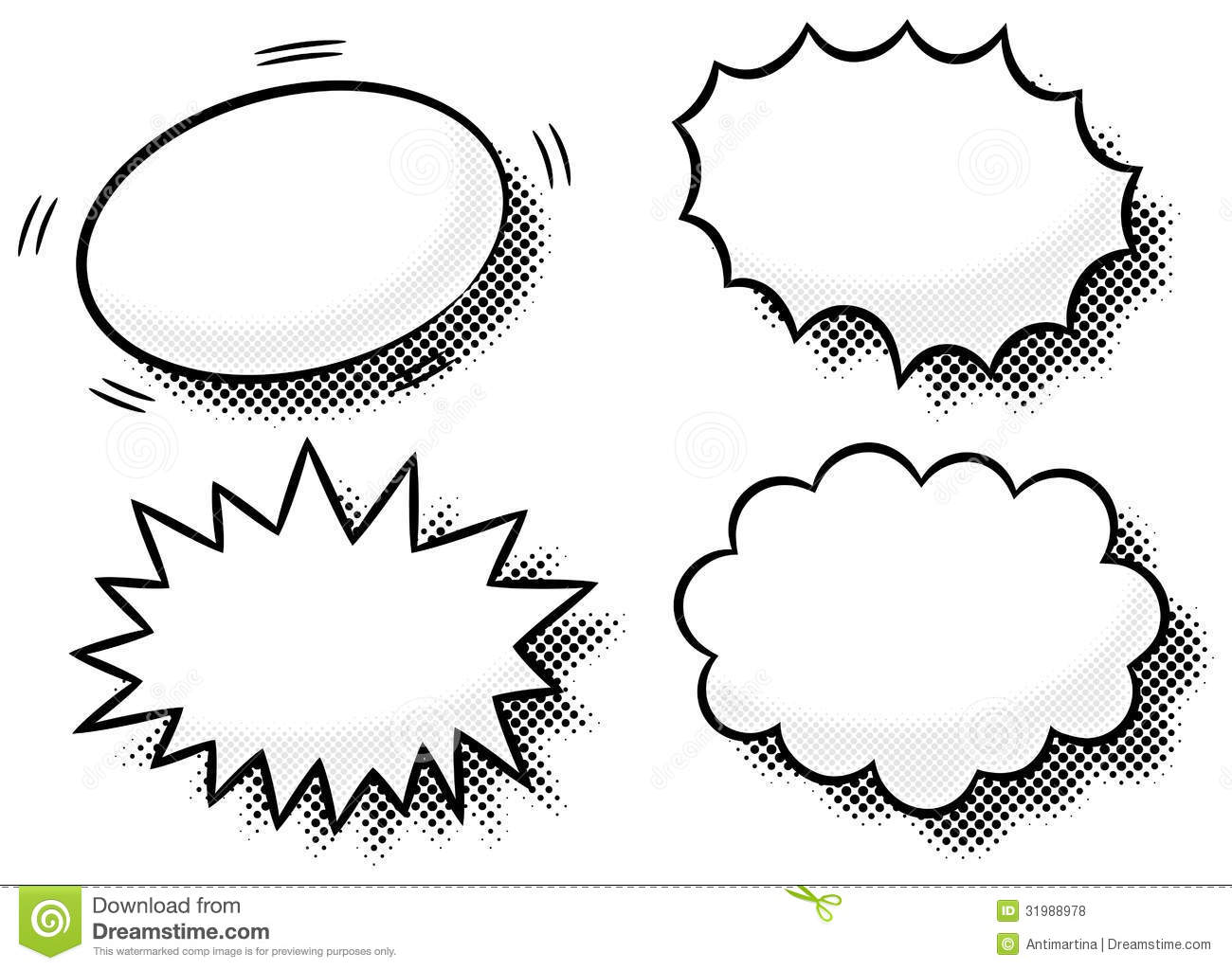 Comic effect bubbles stock vector illustration of element for Comic strip bubble template