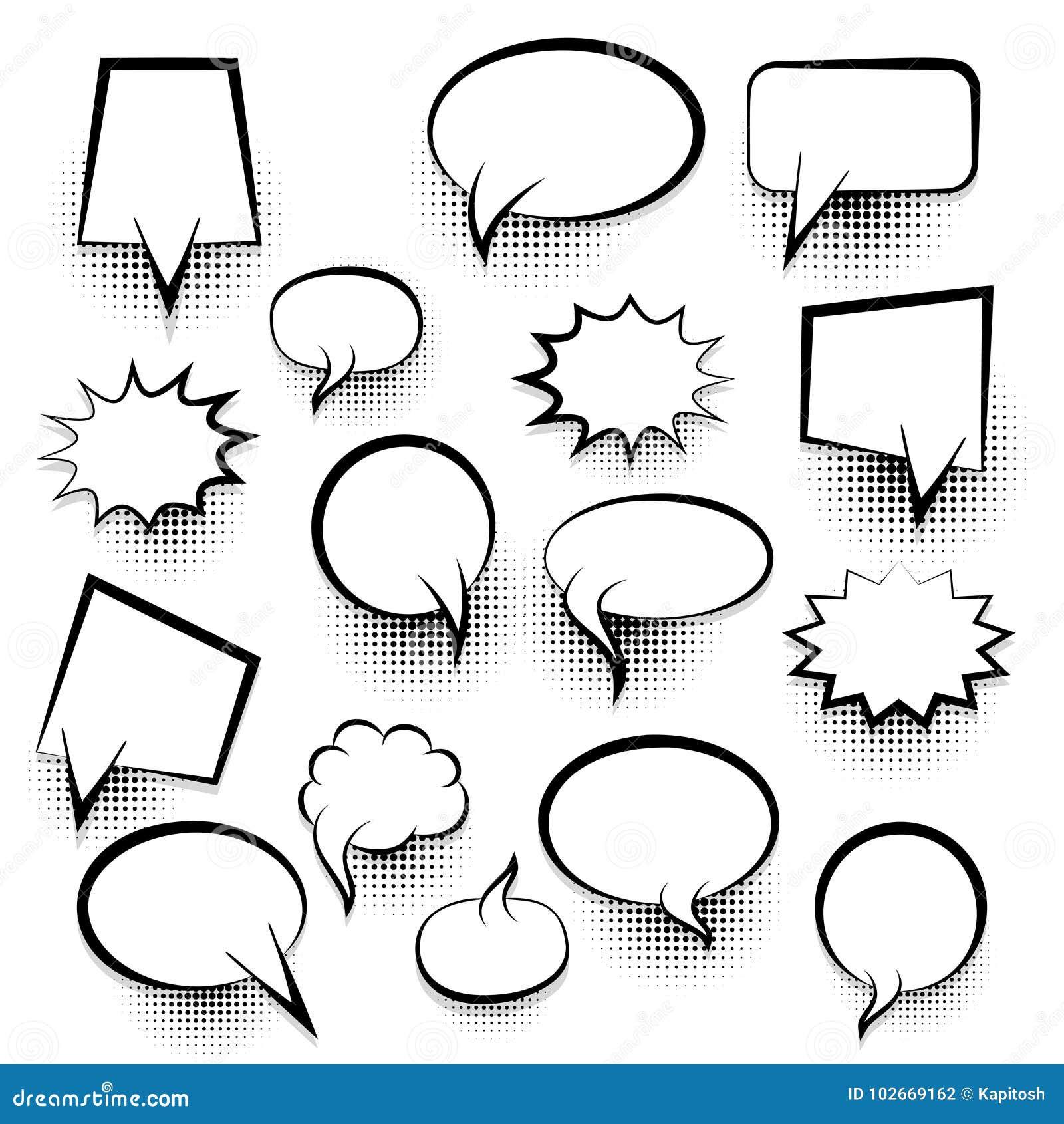 comic empty text speech bubble 25 stock vector illustration of