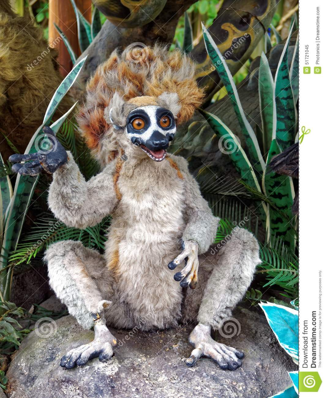 This model lemur is part of a comic display of wild animals. In nature ...