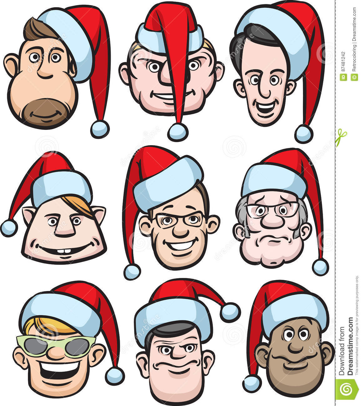 3e771e1edb0 Christmas cartoon style vector illustration  easy-edit layered vector EPS10  file scalable to any size without quality loss.