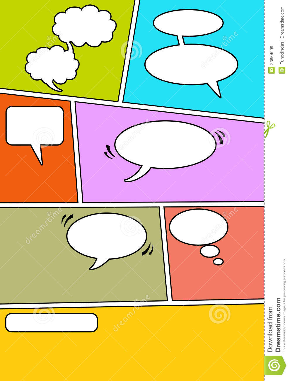 Comic Page 1 Stock Vector Illustration Of Page Chatting 33654009