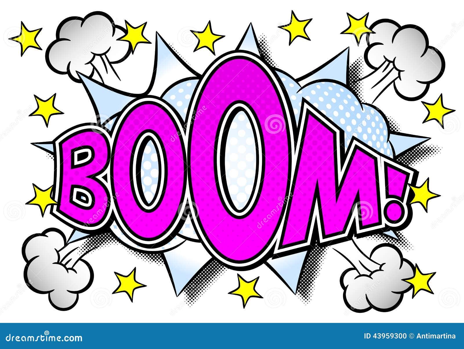 Comic sound effect boom stock vector  Illustration of