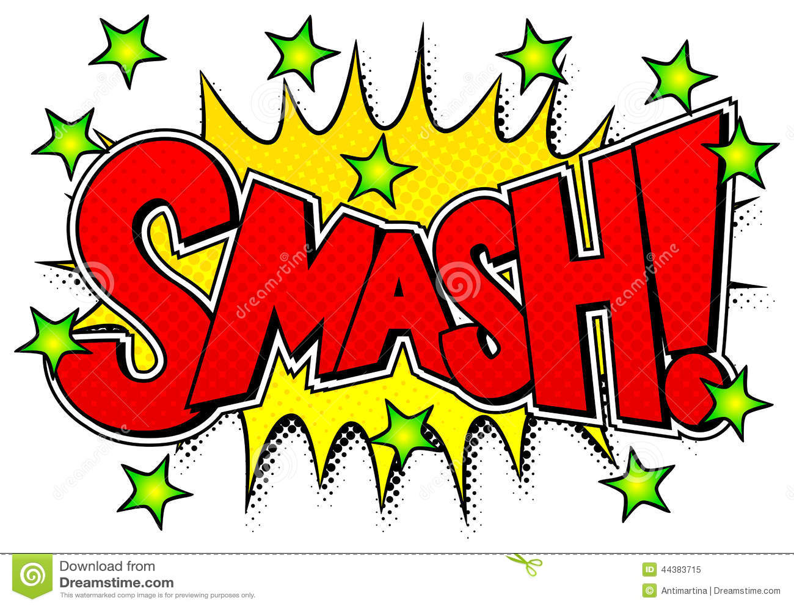 Comic Sound Effect Smash Stock Vector Illustration Of