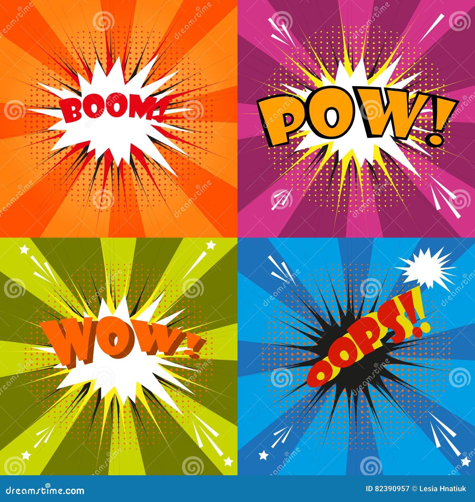 Comic Speech Bubble Cartoon  Stock Vector - Illustration of