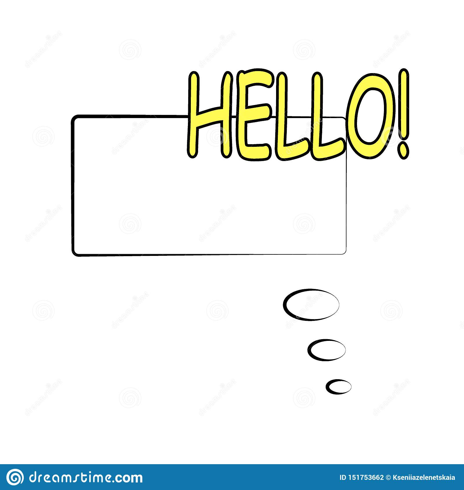 Comic Speech Bubble With Text  Illustration  Template Frame