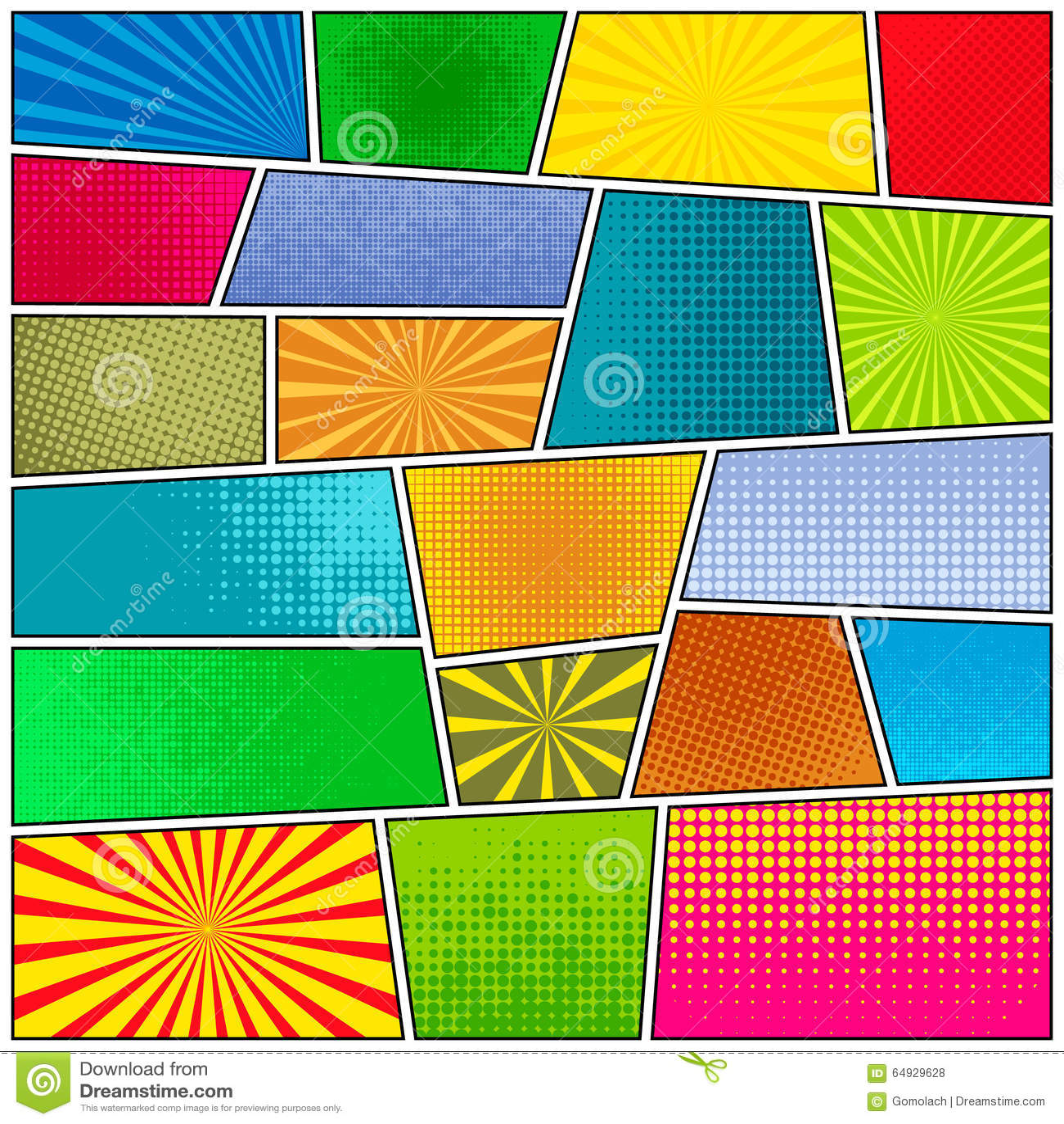 Custom Card Template superhero id card template : Comic strip background. Pop-art style. Vector EPS10 illustration