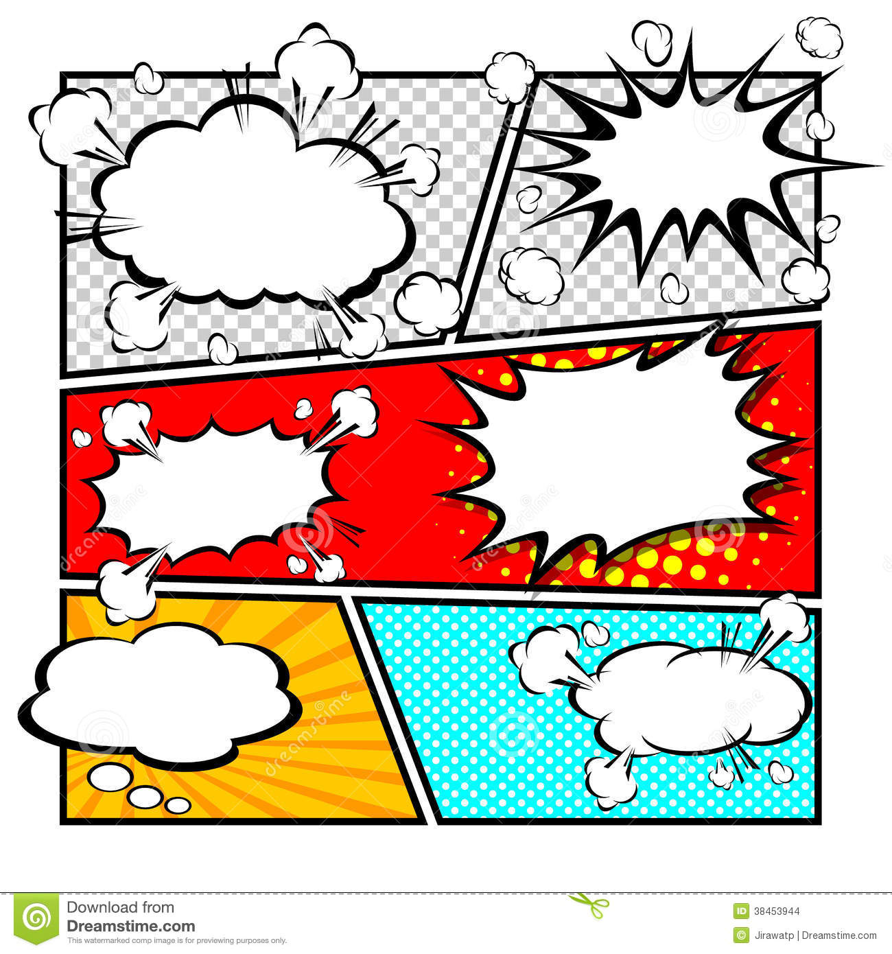 Comic template vector stock vector illustration of boom for Comic strip bubble template