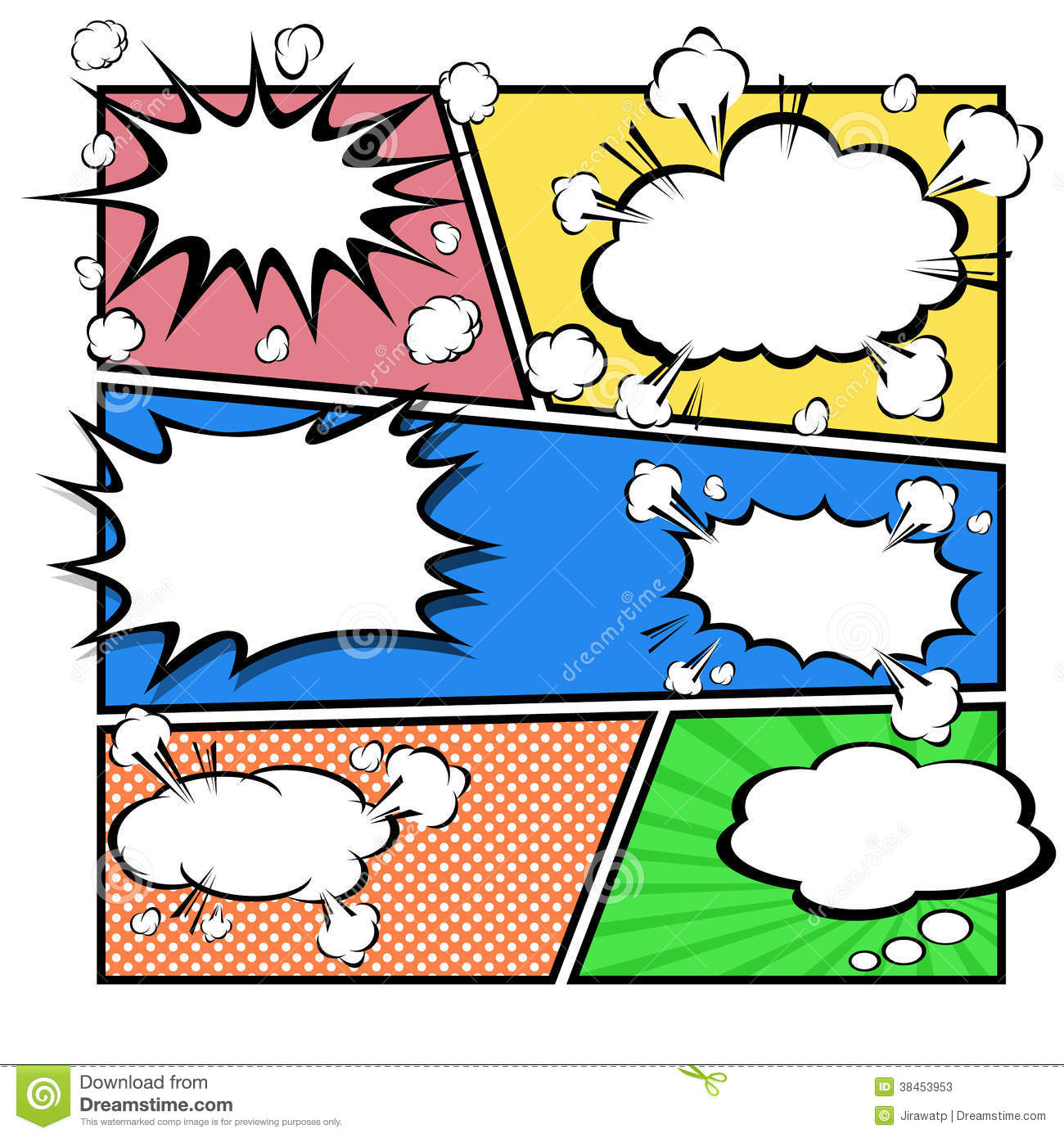Comic Template Vector Photography Image 38453922 – Comic Template