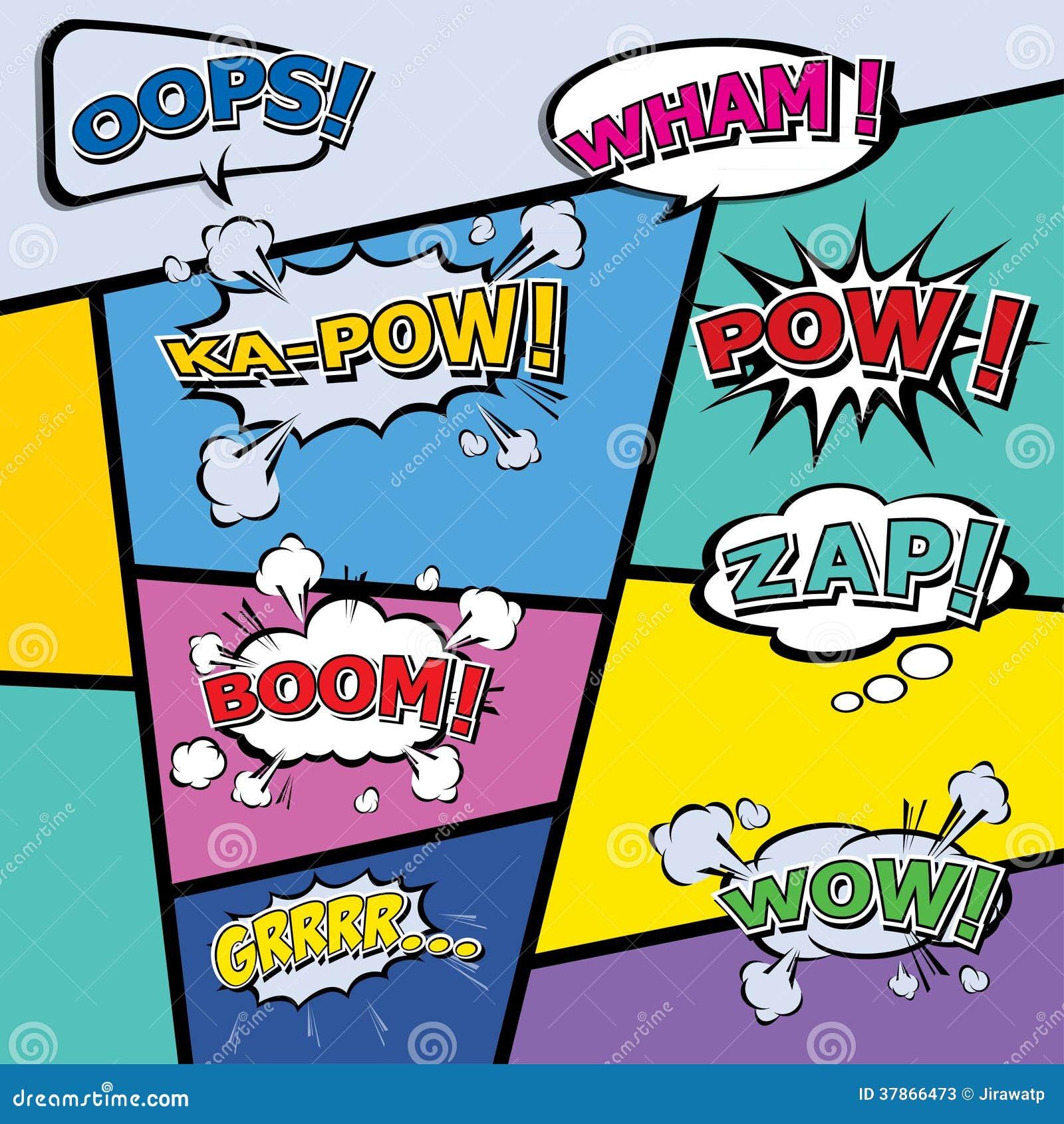 Comic template vector pop art stock photos image 37866473 - Cuadros pop art comic ...