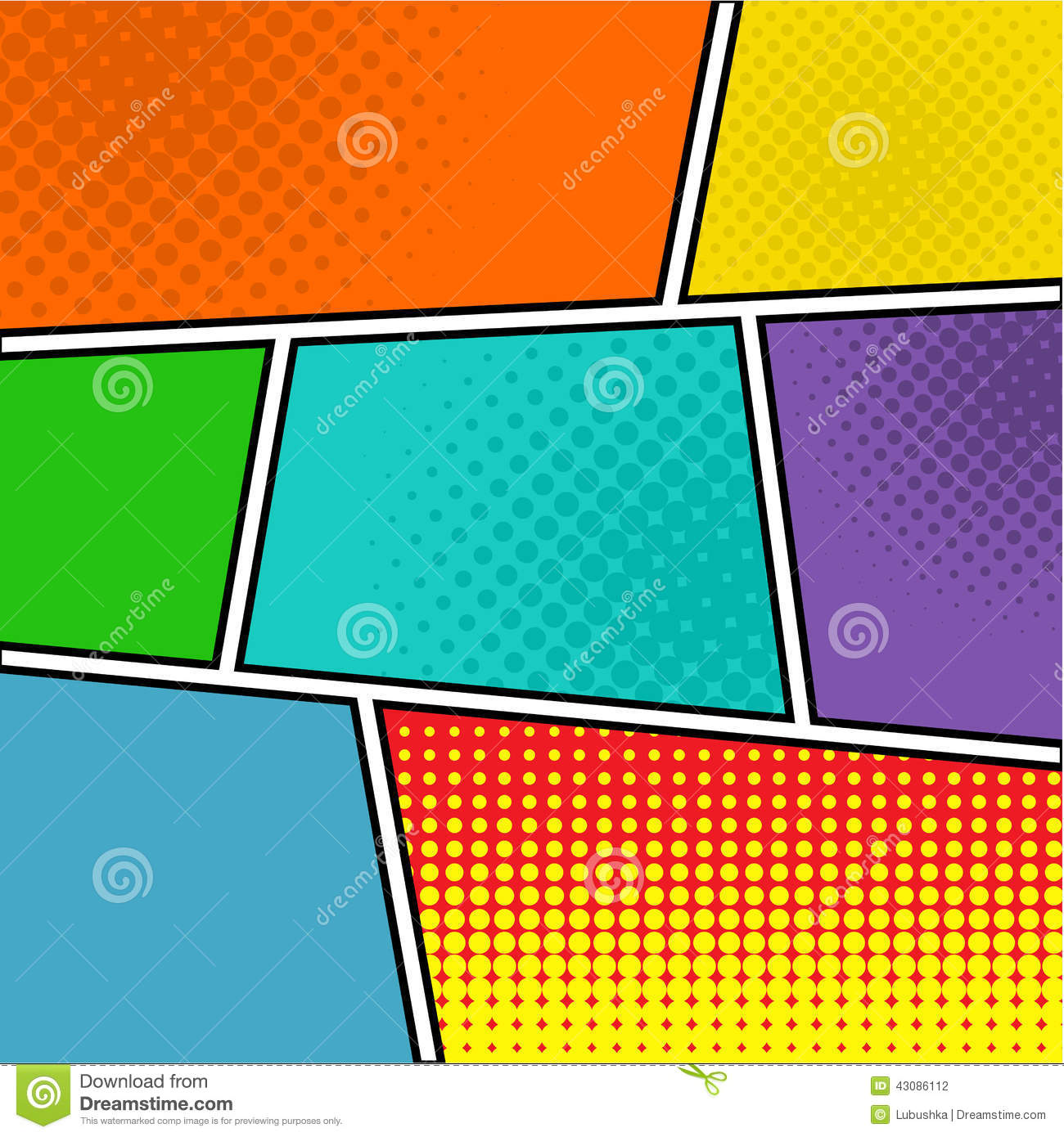 Comics Stock Vector Image 43086112