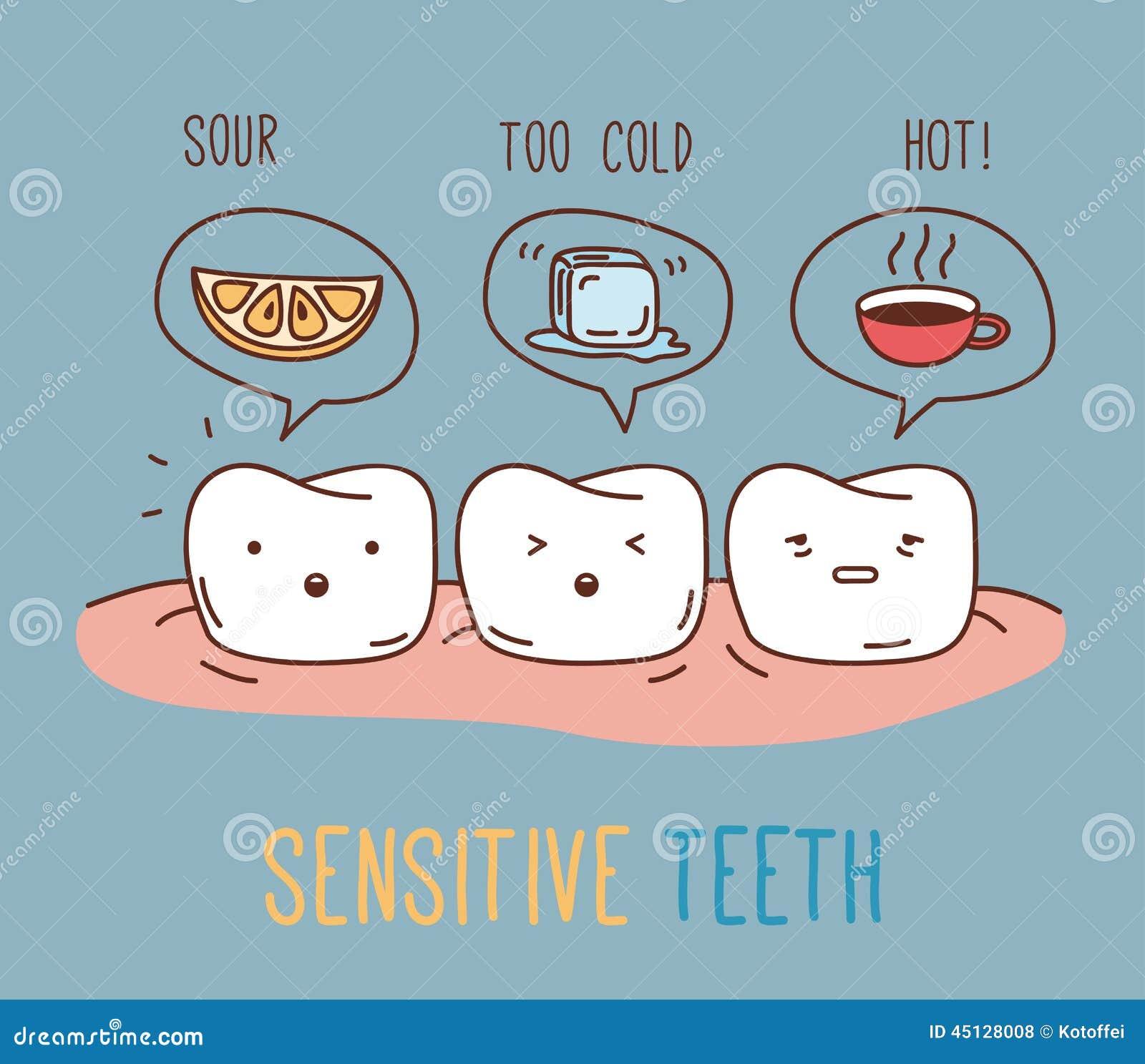 Cute Cartoon Dental Tool Set Stock Vector Auto Electrical Wiring Heat York Diagram Pump 063 84793c Comics About Sensitive Teeth