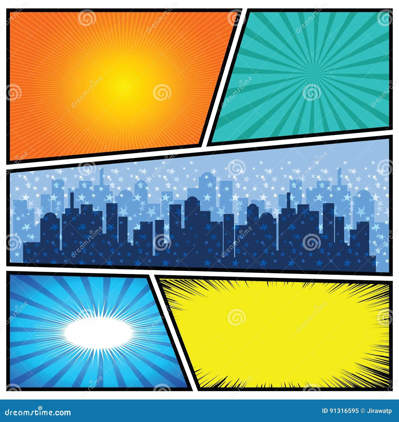 comic book template powerpoint - comics template vector retro comic book speech bubbles