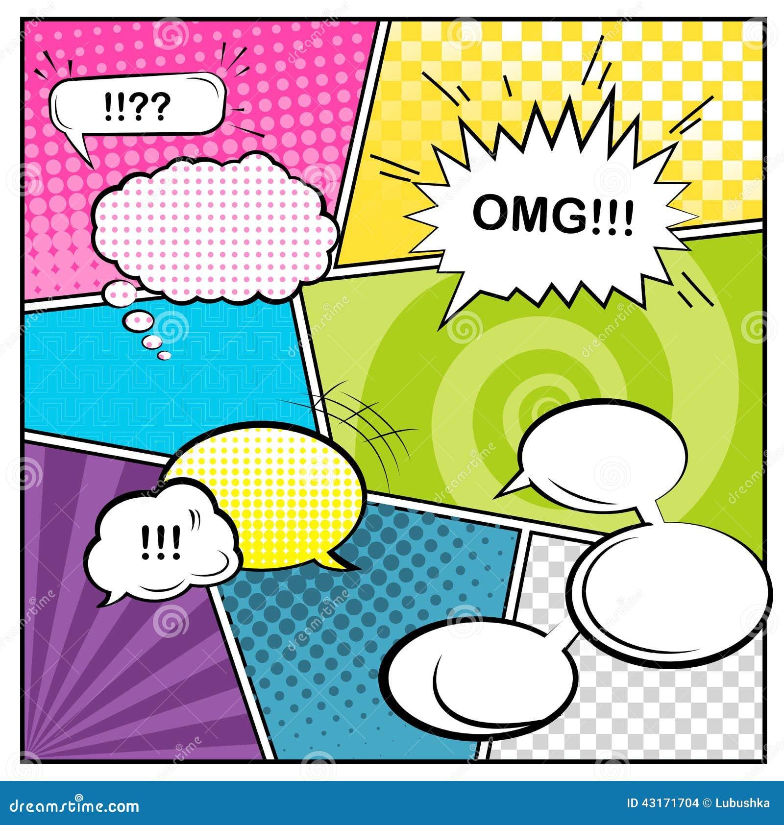 Comics Stock Vector - Image: 43171704: www.dreamstime.com/stock-illustration-comics-vector-template...