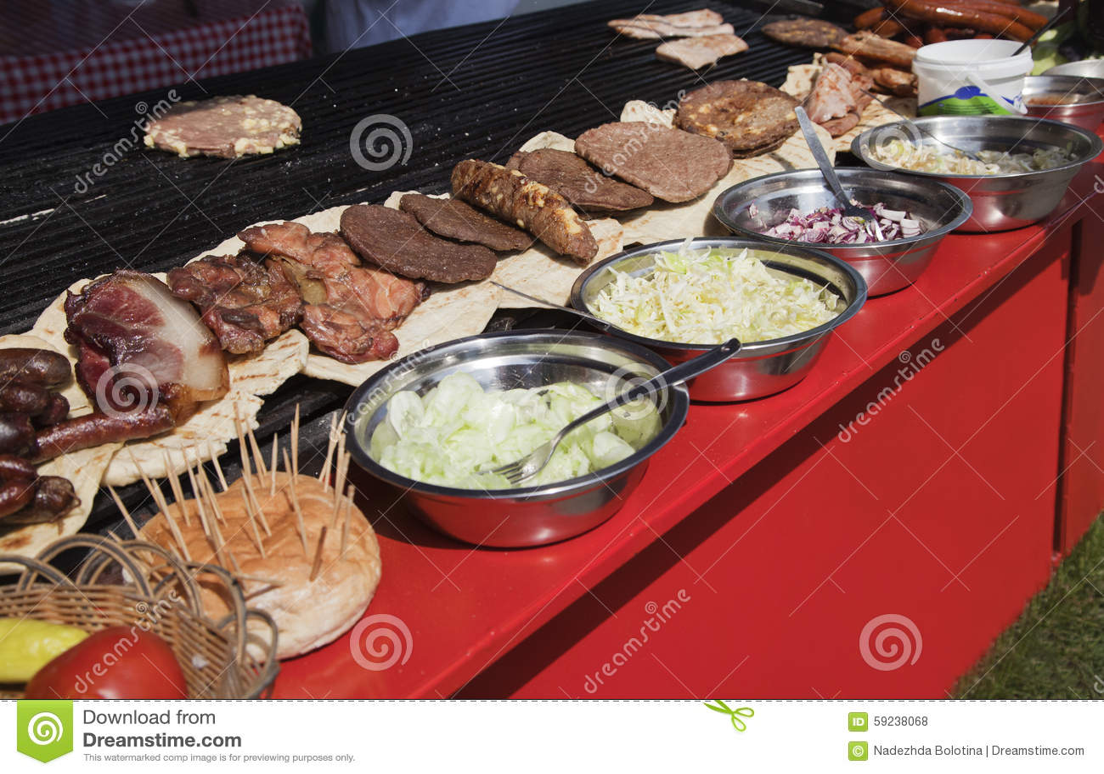 Comida de la calle en Serbia