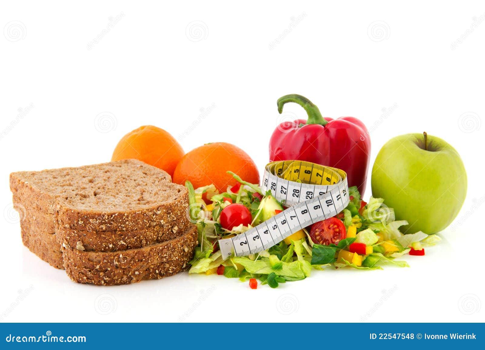 Comida de la dieta con la cinta de medici n fotos de - Fotos de comodas ...