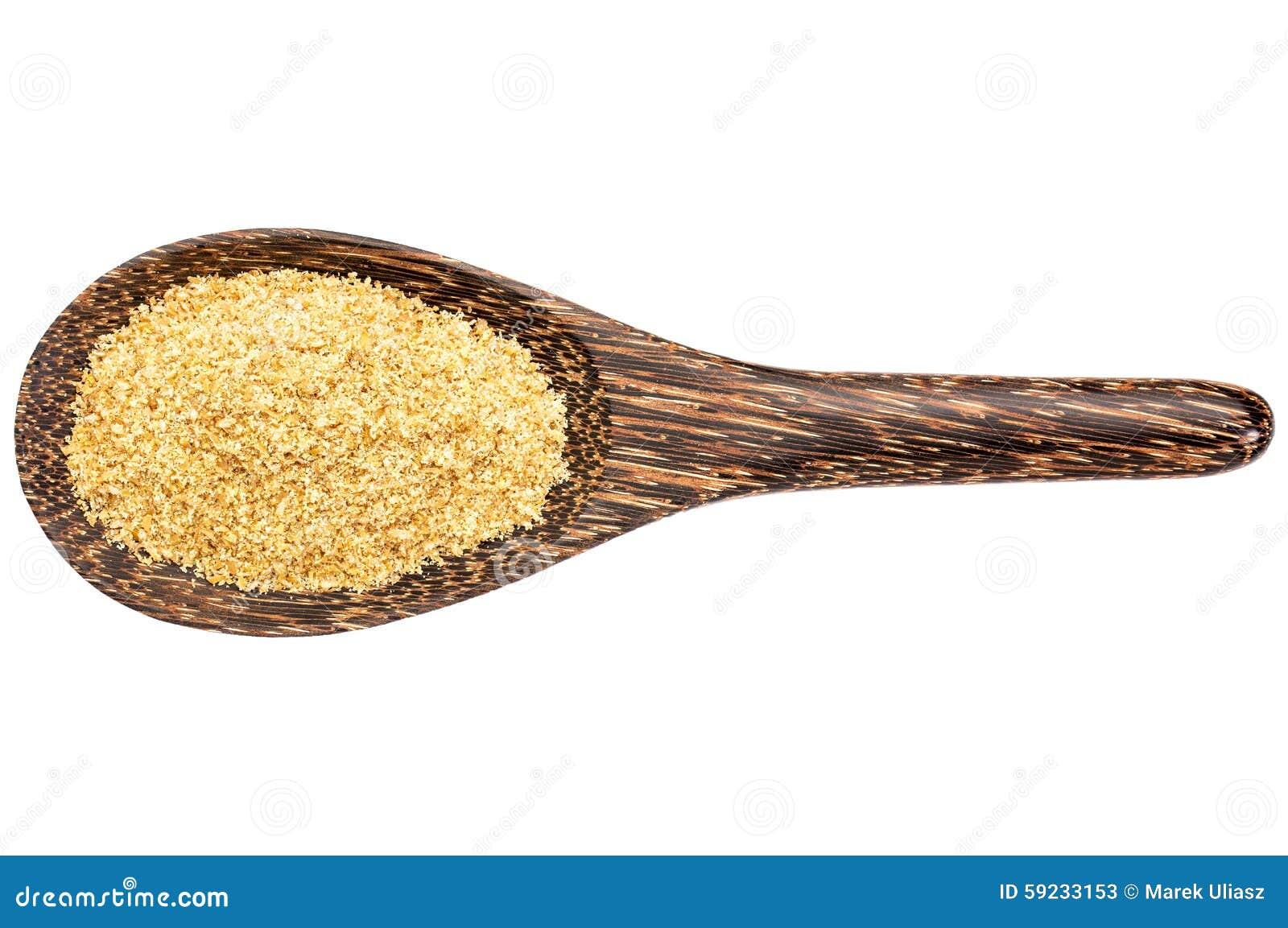 Comida de oro del lino