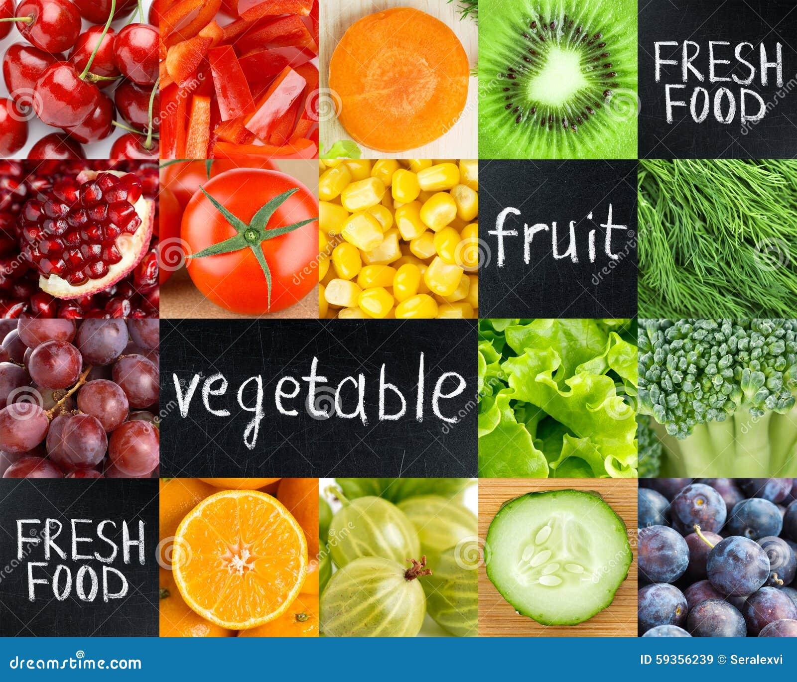 Comida fresca sana del color imagen de archivo imagen de for Comidas frescas