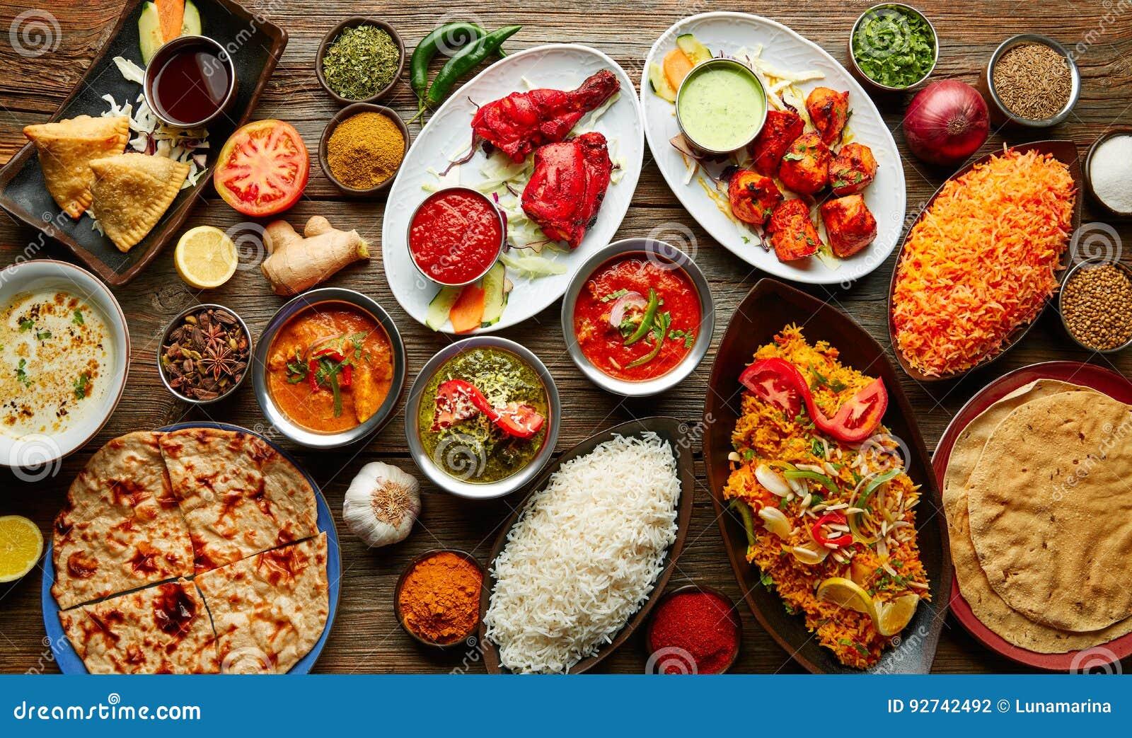 Recetas De Cocina India | Comida India Clasificada De Las Recetas Diversa Foto De Archivo