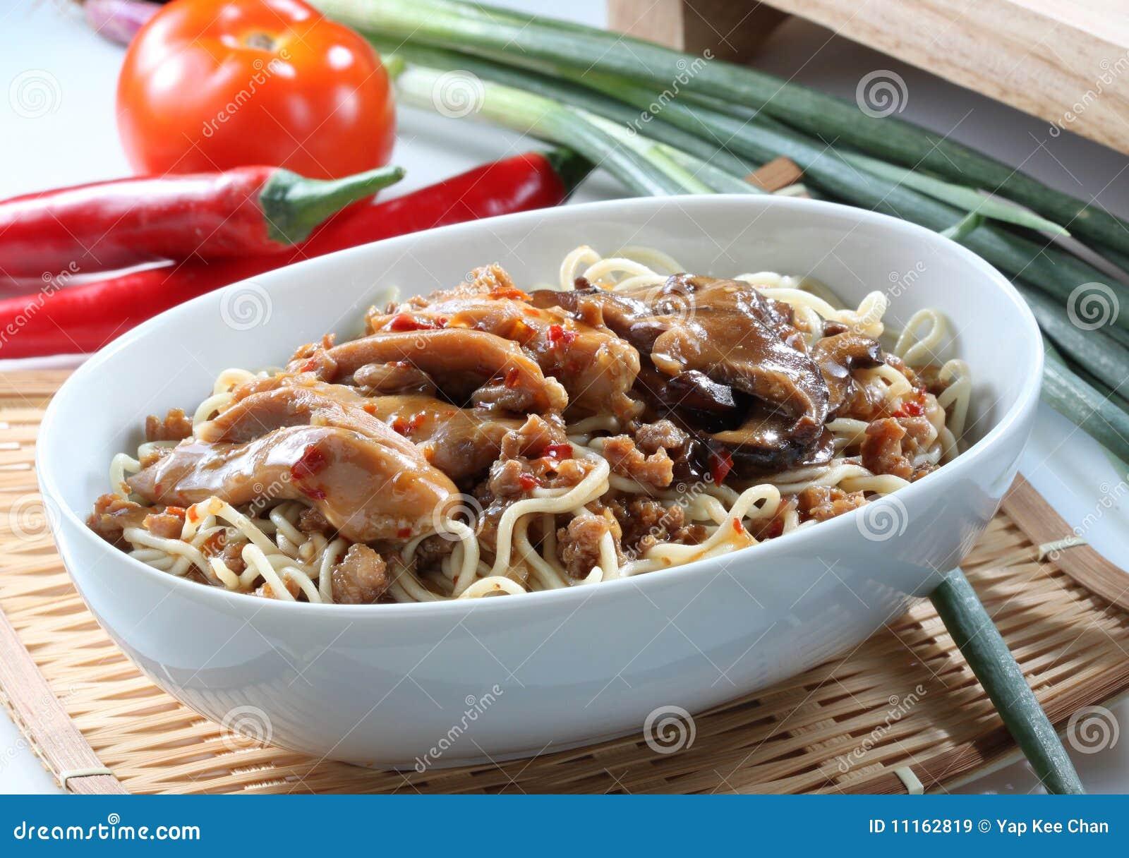 Comida Mein com vegetais