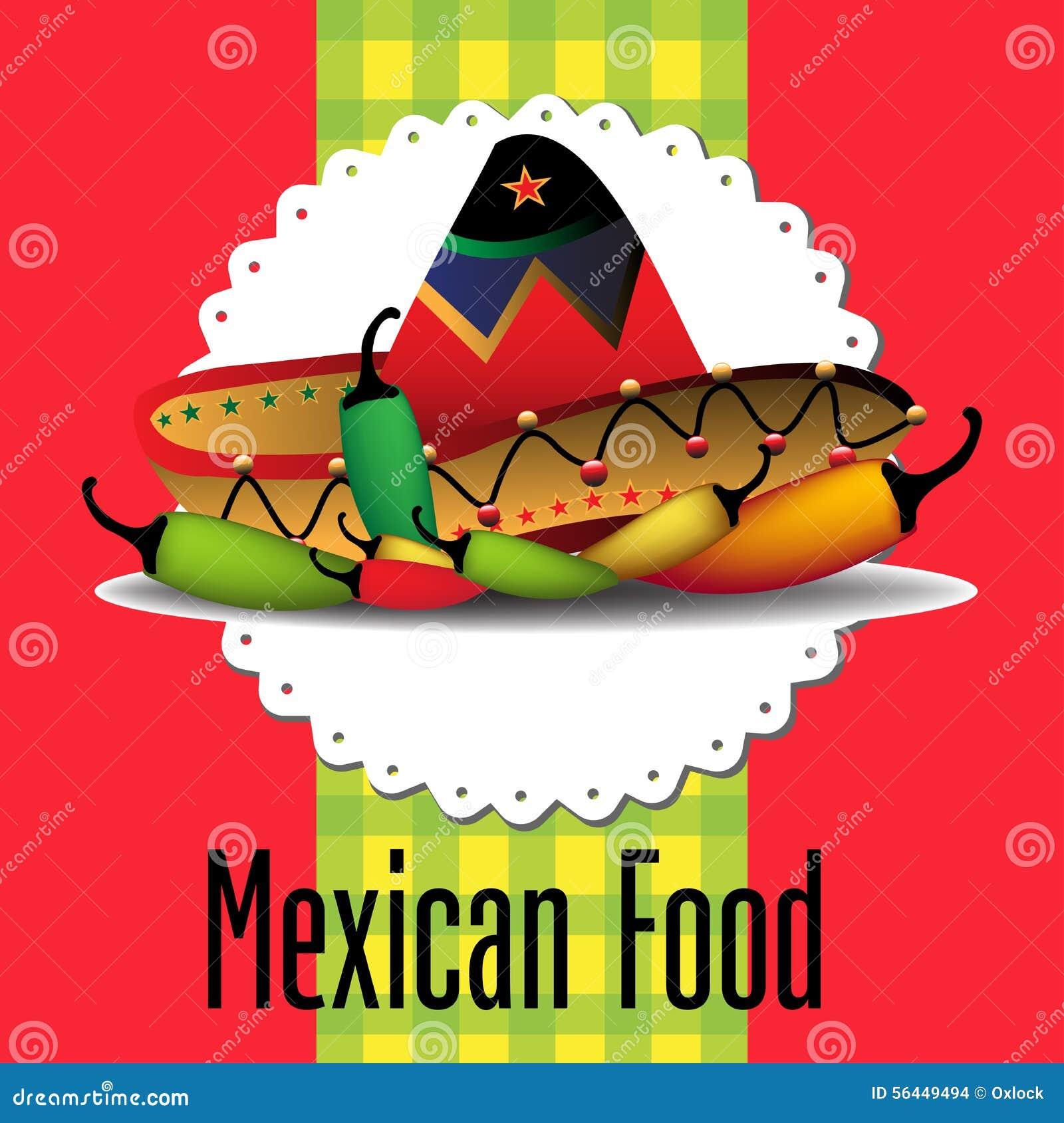 f7416e1d2248e Comida mexicana ilustración del vector. Ilustración de étnico - 56449494